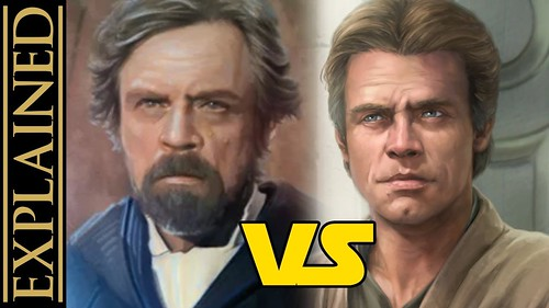 Luke After Return of the Jedi - Star Wars Canon vs Legends