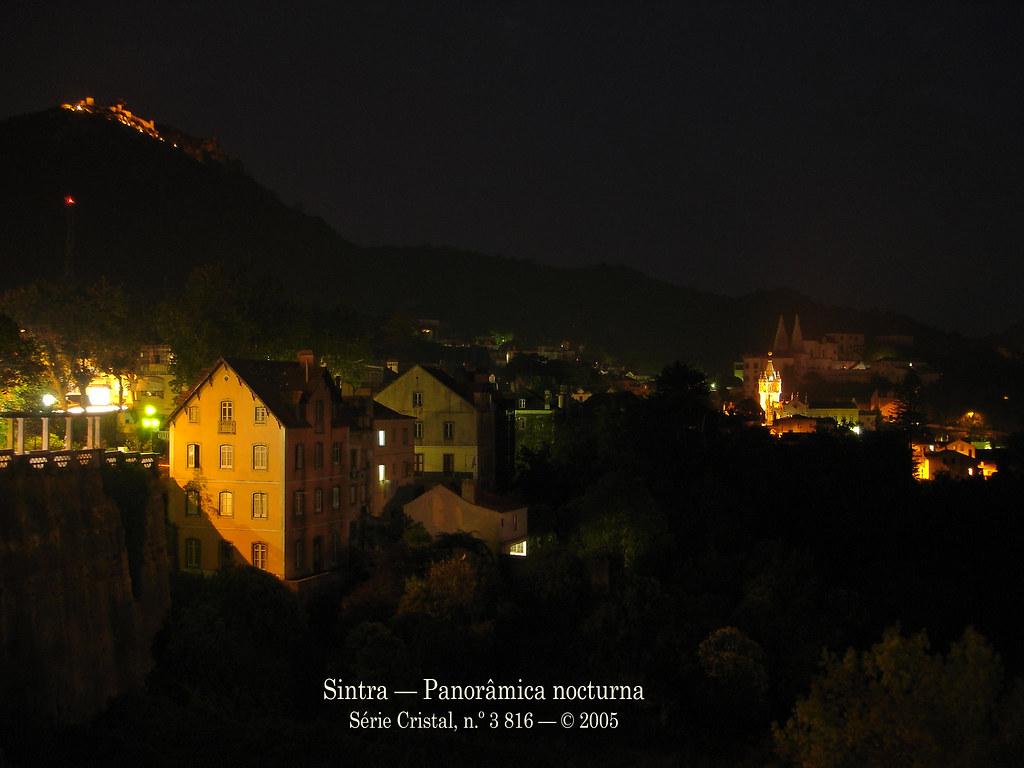 Sintra — Panorâmica nocturna (Série Cristal, n.º 3 816 — © 2005)