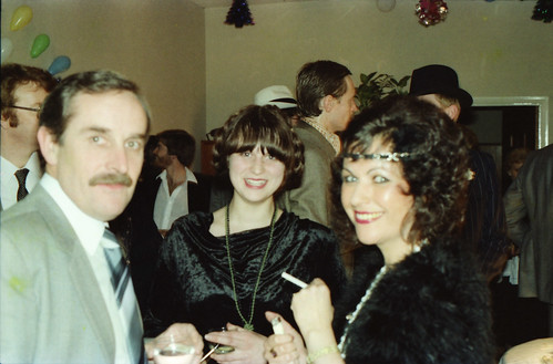 IMS Lycrete Christmas Party Regent Street Piccadilly London Dec 1980 002 Melinda and John Nancarrow