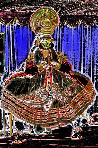 India - Kerala - Fort Cochin - Kathakali Dancer - 207dd