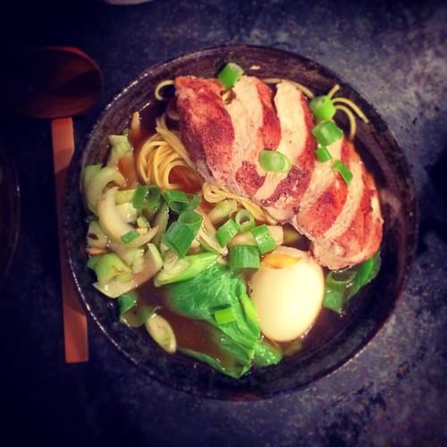 #yakitori #chicken #ramen #noodles #egg #bambooshoots #waterchestnuts baby #sweetcorn #pakchoi #foodporn #springonion