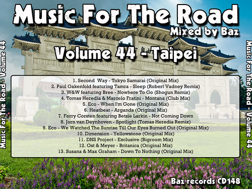 2012-08 (Music For The Road Volume 44 - Taipei) - Rear Cover