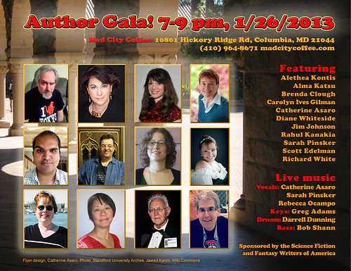Flyer for Author Gala at Mad City
