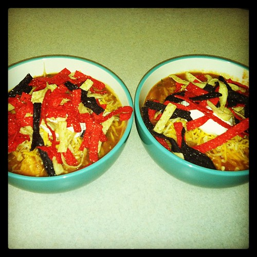 Chicken Tortilla Soup made from scratch by the 1 n Only My Fabolous @haelah --#Cherish