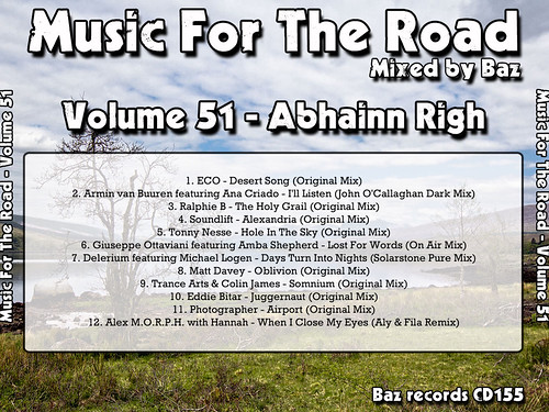 2013-03 (Music For The Road Volume 51 - Abhainn Righ) - Rear Cover