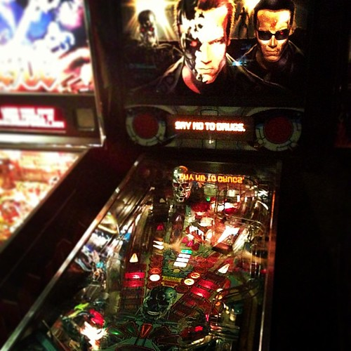 How about some Arnold Schwarzenator pinball, I mean Terminator, I mean. Aahhh!!! They're one the same!!!!