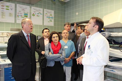 16.04.2013: Besuch des Braunschweiger Klinikums mit Peer Steinbrück im Rahmen der Länderreise Niedersachsen