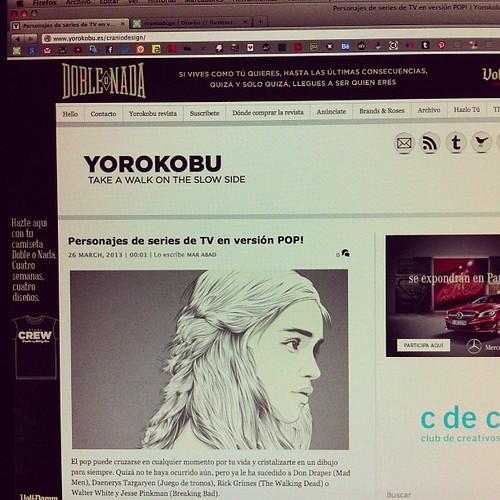 Gracias a @yorokobu por publicar parte de mi trabajo en vuestra web...!!! #vector #vectorial #illustration #illustrator #ilustracion #gamesofthrones #juegodetronos #web #graphic #design #graphicdesign #yorokobu #news #noticias #tendencia #tendencias #tv #