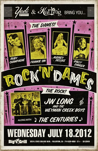 Rock 'N' Dames Burlesque Poster
