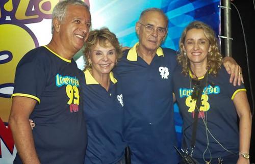 Laudeli Leão, Andreia Maier, Yvelise e Arolde de Oliveira no Louvorzão da 93 FM