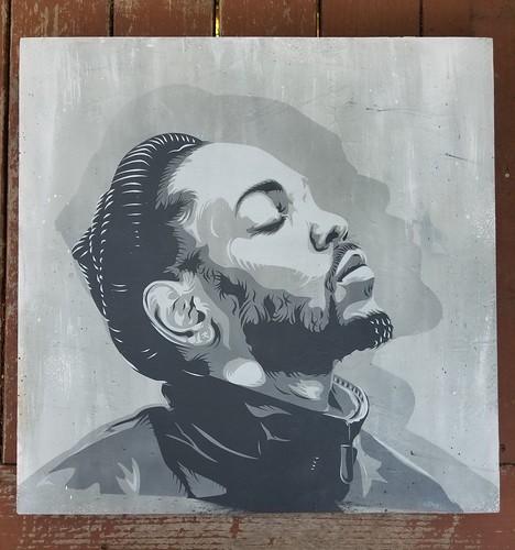 Kendrick Lamar Stencil painting by STENZSKULL