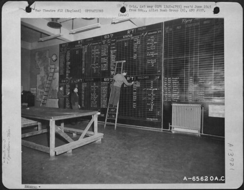 401st Bomb Group operations board