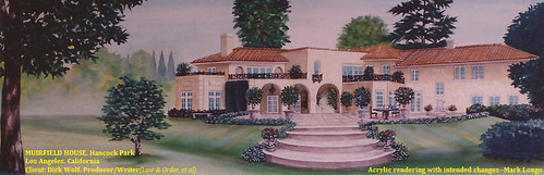 Dick Wolf Residence in Hancock Park--Acrylic Rendering by Mark Longo