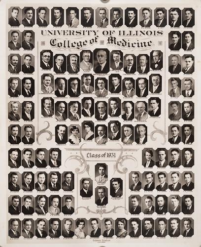 1931 graduating class, University of Illinois College of Medicine