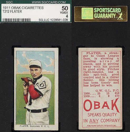 1911 T212-3 Obak Cigarettes Baseball Card - JOHN