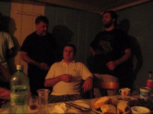 2653-Sakhioba boys singing at supper when we got home