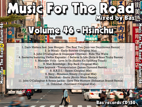 2012-10 (Music For The Road Volume 46 - Hsinchu) - Rear Cover