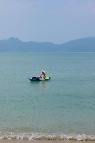 Hannah in a Kayak