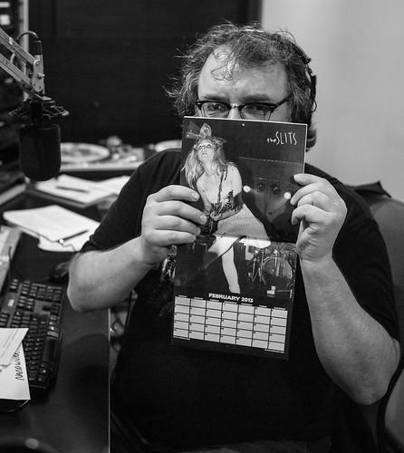 Kurt displays his favorite month in Nardwuar's calendar.