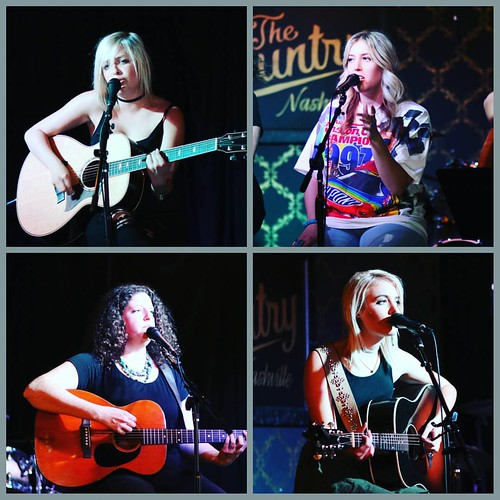 Savannah Keyes,  Alex Stern,  Ariel Lask, and  Cali Rodi at The Country tonight. #nashville #music #thecountry