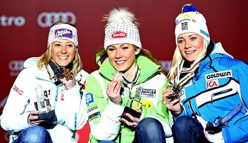 2013-02-16 Michaela Kirchgasser - Mikaela Shiffrin - Frida Hansdotter 0002