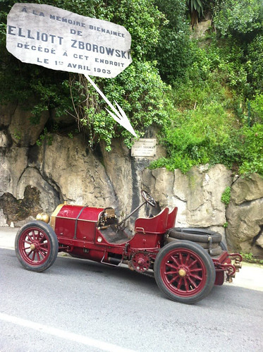 Mercedes 60hp 1903 at the memorial to Count Zborowski died 01 April 1903