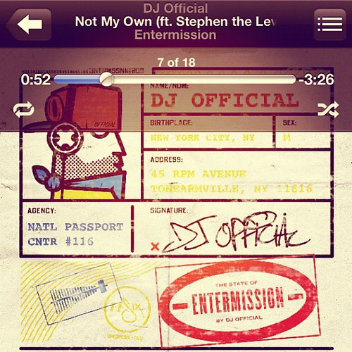 Such a dope song; shout out to @djofficialdj ! #djofficial #notmyown #mission #entermission #stephenthelevite #phanatik #evangel
