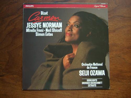 Bizet - Carmen - Highlights - Jessye Norman, Mirella Freni, Neil Shicoff, Simon Estes - Orch. Nat. de France, Ozawa, Philips 426 040-1 Digital