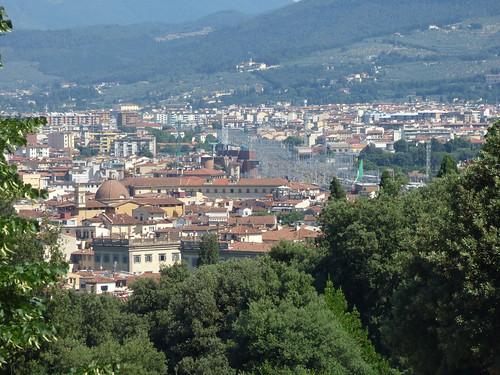 Florence skyline from Boboli Gardens - Firenze Santa Maria Novella railway station