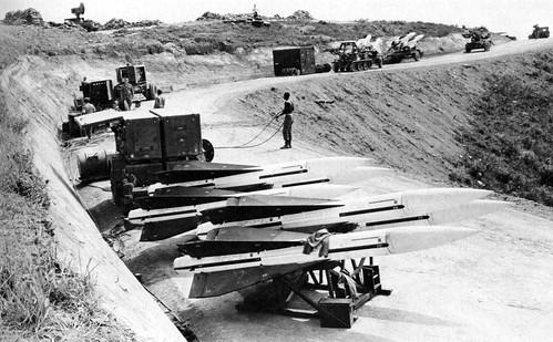 Vietnam War - HAWK missiles on Hill 327 in 1965