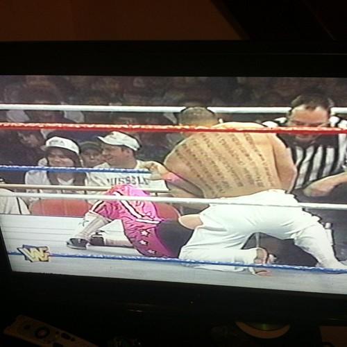 Hakushi vs. Bret Hart. #WWE #IYH