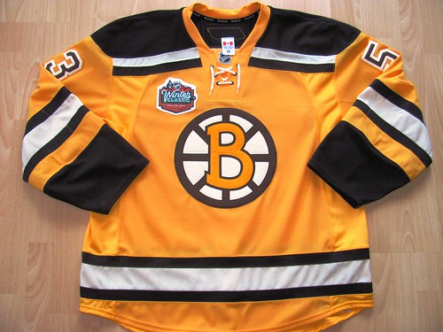 Boston Bruins 2010 NHL Winter Classic Game Worn Jersey