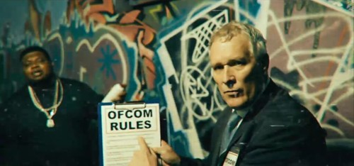 Big Nastie Show Channel 4, Title Sequence as Ofcom Officer