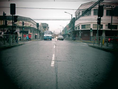 La calle mojada