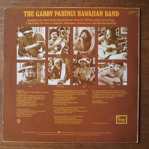 Backside The Gabby Pahinui Hawaiian Band Vol.1 & Ry Cooder, Panini Records WB 56398, 1975 1977
