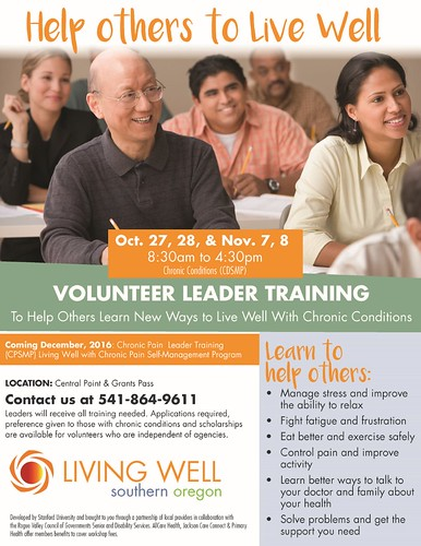 Living Healthy Life with Chronic Conditions class online registration sohealthyoregon.org