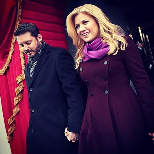 Brandon Blackstock and @Kelly_Clarson at Presidential Inauguration #vvipspotted #celebrity #style #Washington #Dc #usa #capitol #barack #obama #2013