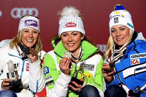 2013-02-16 Michaela Kirchgasser - Mikaela Shiffrin - Frida Hansdotter 0005