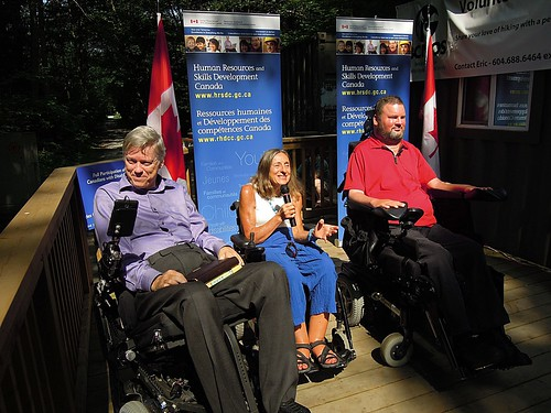 Accessible hiking centre launch