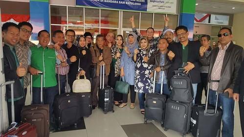 Tim DPP PPP tiba di Bandara Sam Ratulangi Manado, Sulut, Jumat (19/08). Kegiatan di Sulut dalam rangka mengawal dan mensupport Muswil DPW PPP Sulut. #HD