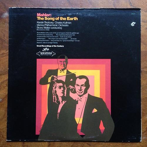 Mahler - The Song of the Earth, Lied von der Erde - Kerstin Thorborg Mezzo, Charles Kullman Tenor, Wiener Phil., Bruno Walter, Seraphim 60191, 1936, Great Recordings of the Century