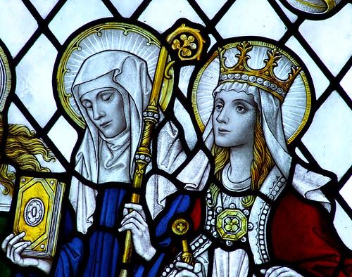 St Etheldreda and St Margaret de Valois by FC Eden, 1925