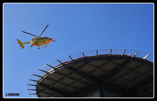 Hubschrauber-Landeturm Brüderkrankenhaus Trier, (Deutschland)