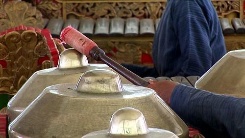 Indonesia - Java - Yogyakarta - Kraton - Museum - Gamelan Musician - 3