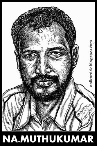 NA.MUTHUKUMAR tamil Poet and Lyric Writer Portrait Drawing by Artist Ani,Chennai,TamilNadu,India