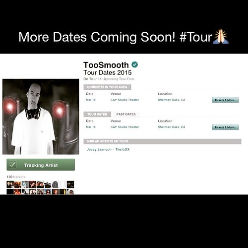 I'm Coming To Your City In 2015! Track My Tour Page For All The Upcoming Dates. It's Going To Be A Crazy Year!!! http://www.bandsintown.com/TooSmooth @bandsintown #Blessed #Thankful #ThankYou #God #TheStart #Life #LightsOutEntertainment #Happy #History #B
