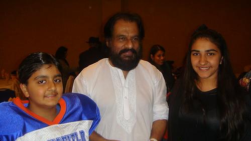 Surya Makkar and Prachi Makkar with with Padambhushan Dr. K J Yesudas in NJ USA 10-31-10