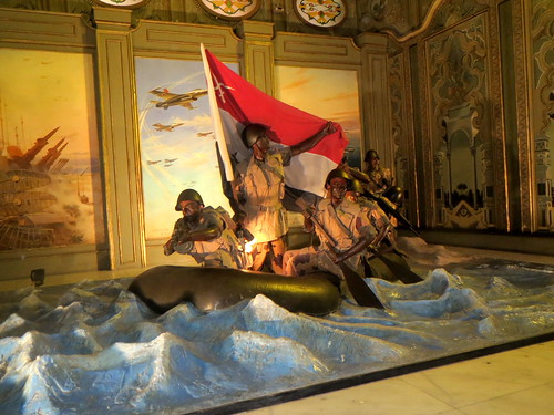 Diorama of the Crossing of the Suez, 1973