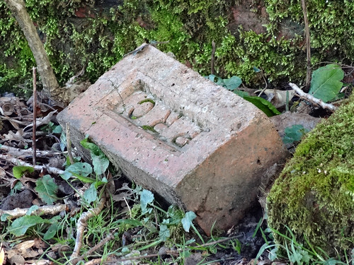 PRC Brick From WW2 Pillbox, Kemys Commander, Monmouthshire 7 March 2014