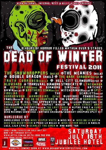 Dead of Winter Festival Poster 2011